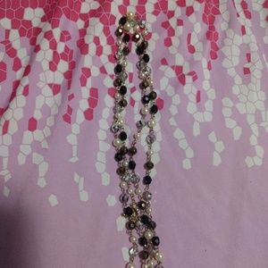 Fabulous 4 plus ft crystal bead necklace